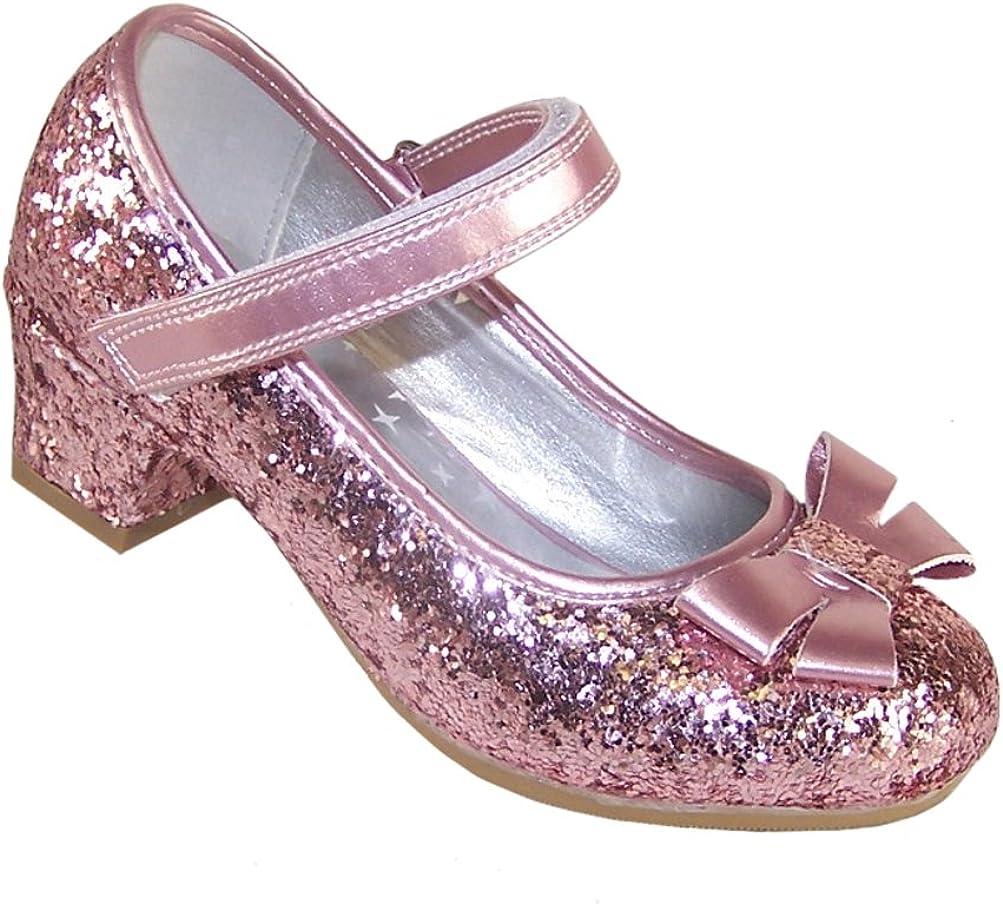 Girls Childrens Pink Sparkly Glitter