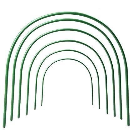 JYCRA aros de apoyo para invernadero, túnel de cultivo sin óxido para soporte de cubierta