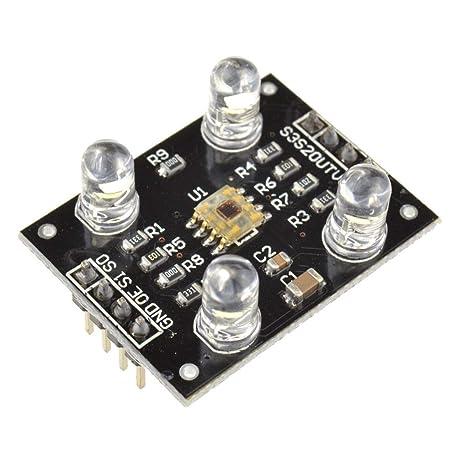 Ben-gi Reconocimiento módulos detectores de Color TCS230 Sensor de Color módulos compatibles para MCU