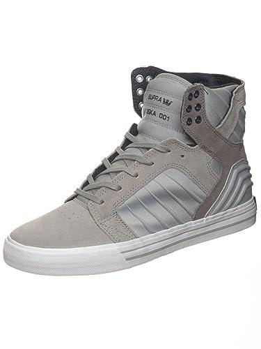 Supra Men's Skytop Evo Shoes Size 6 Grey - White
