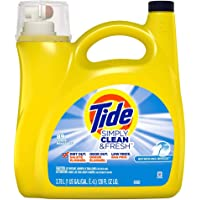 Tide Simply Clean and Fresh Liquid Laundry Detergent, Refreshing Breeze, 89 Loads
