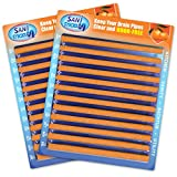 Sani Sticks, As Seen on TV Drain Cleaner and Deodorizer, Orange Scent, 24 Pack