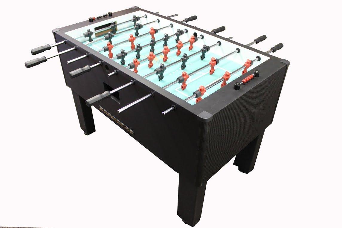ゴールド標準Proテーブルサッカーテーブルゲームホーム(カーボンファイバーラップ( QPQステンレススチールrods-blackハンドル) ) B00XUX685A