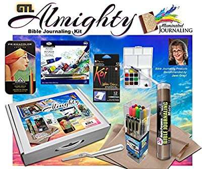 Almighty Bible Water Color and Acrylic Paint with Gelly Roll Pens Bible Journaling Set of 5