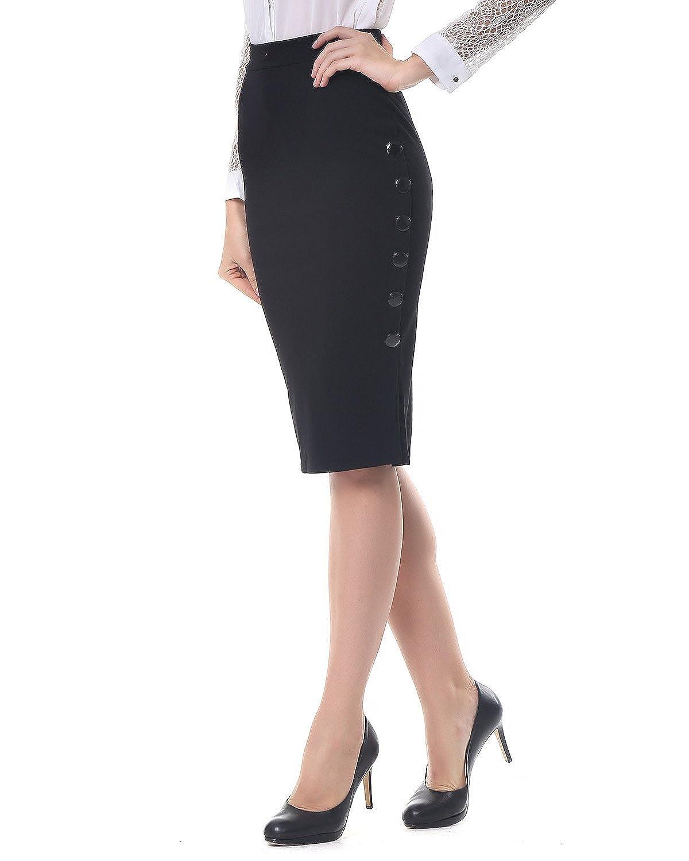 Kenancy Mujer Midi Falda Tubo Largas Cintura Alta Elástico Falda de Lápiz S - 5XL: Amazon.es: Ropa y accesorios