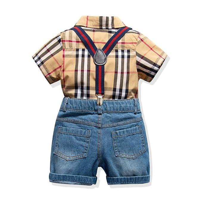 Conjunto de ropa para niños niños Conjunto de camiseta de manga ...