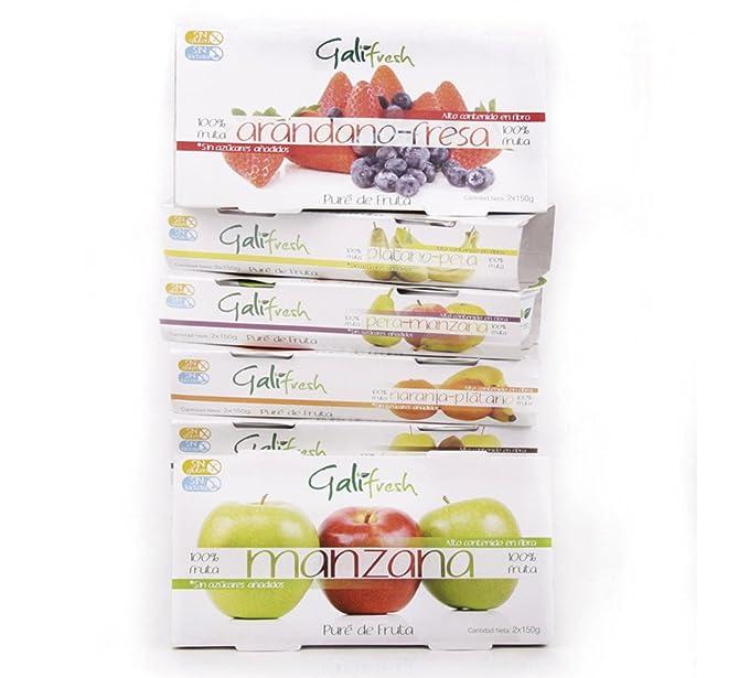 Caja de 12 packs de Puré de Fruta Galifresh. MIX DE SABORES. 100%