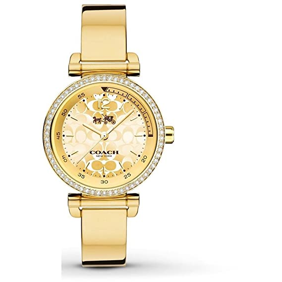 Coach De las mujeres deporte 1941 30mm oro Reloj Chapado en oro