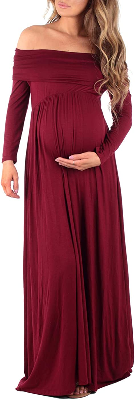 Cowl Neck and Over The Shoulder Maternity Dress at  Women's Clothing store