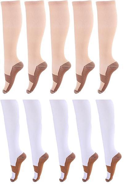 SANKE Mujeres Hombres Deportes Embarazo Enfermera Ternero Calcetines de Compresión Antifatiga