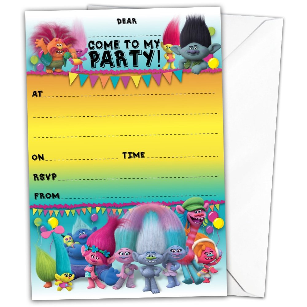Pack of 20 Glossy Birthday Party Invitations Cards inspired by ...