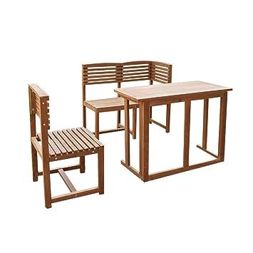 Amazon De Balkonmobel Balkonset Gartenmobel Teak Optik Holz Stuhl