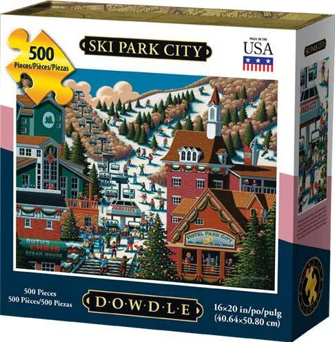 500 Piece Jigsaw City (Dowdle Jigsaw Puzzle - Ski Park City - 500 Piece)
