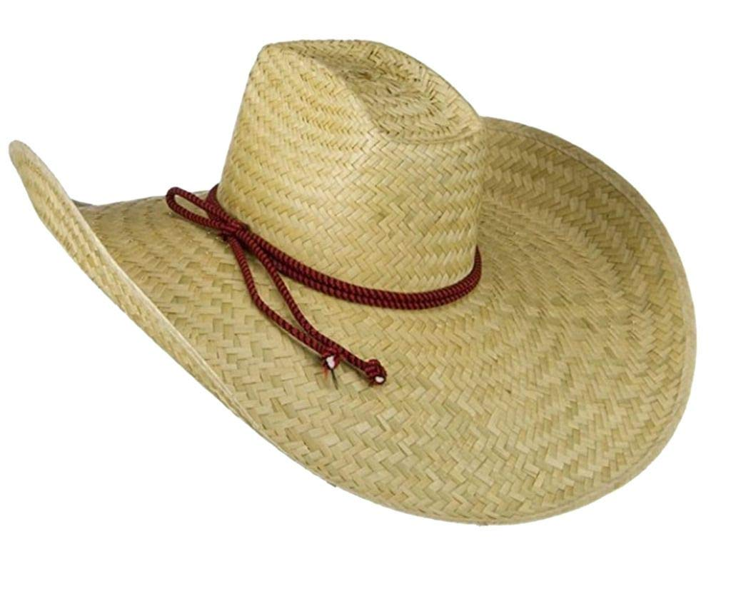 jAc Oversized Waster 7 Inch Brim Hat Natural Straw Giant Western Sheriff Cowboy