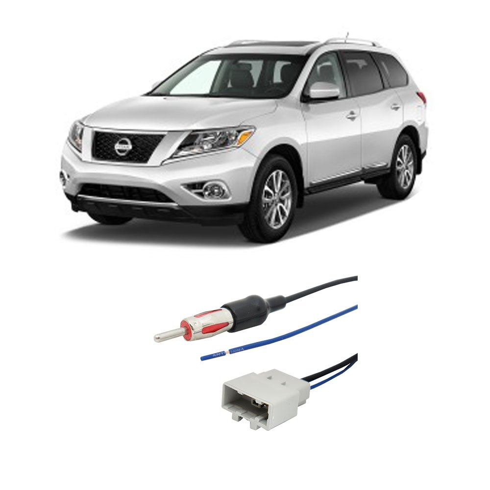 Fits Nissan Pathfinder 08 16 Factory Stereo To 2012 Cube Wiring Diagram Aftermarket Radio Antenna Adapter Car Electronics