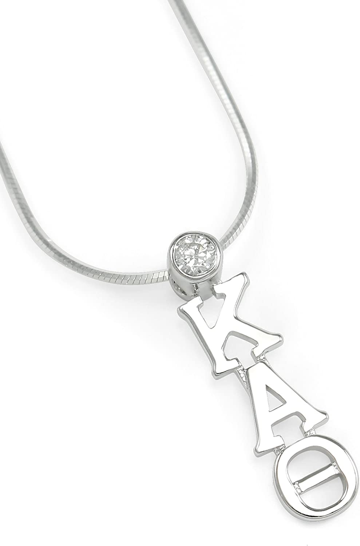 Kappa Alpha Theta Sterling Silver Lavaliere Pendant