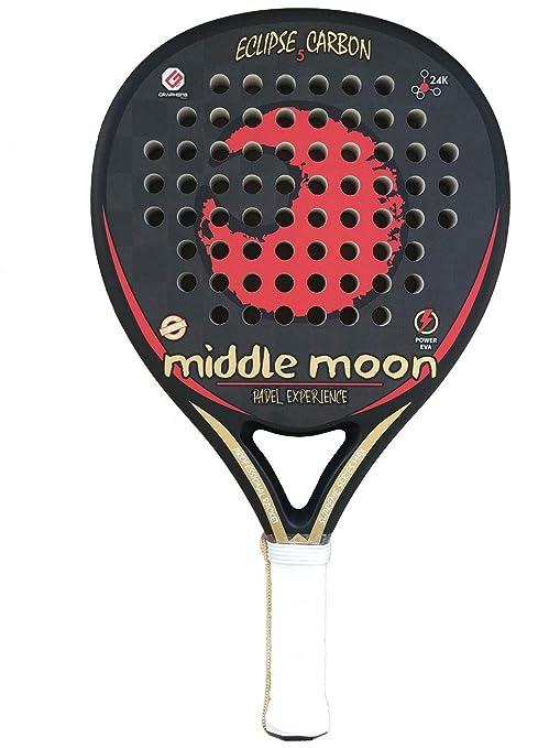 Middle Moon Palas de Pádel Eclipse 5 Carbon 24K 2019: Amazon ...
