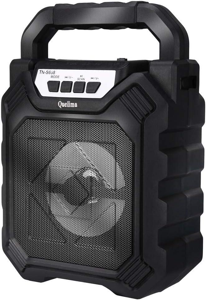 Altavoz Bluetooth,CHshe🍉🍉,Altavoz multimedia inalámbrico ,LED portátil de 50W BT4.2 + DER completamente alimentado,Mini cámara H9 HD, tamaño pequeño, fácil de ocultar (Negro)