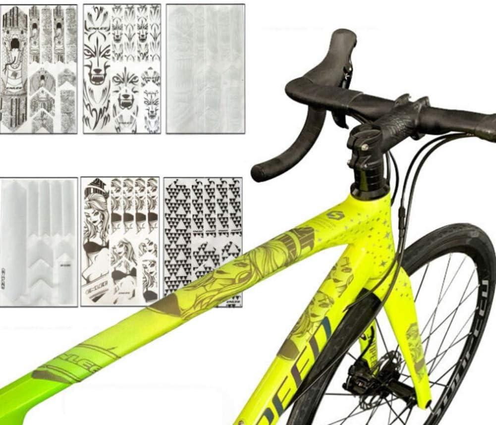 Balight MTB Mountain Bike Protector de marco resistente a los ara/ñazos Etiqueta extra/íble Road Bike Paster 1 PCS