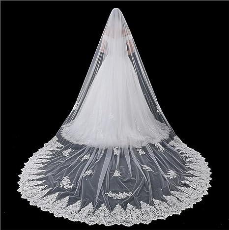 vente chaude pas cher vêtements de sport de performance Velo da sposa bianca 5 metri Lungo Pizzo Bordo Abbellimento ...