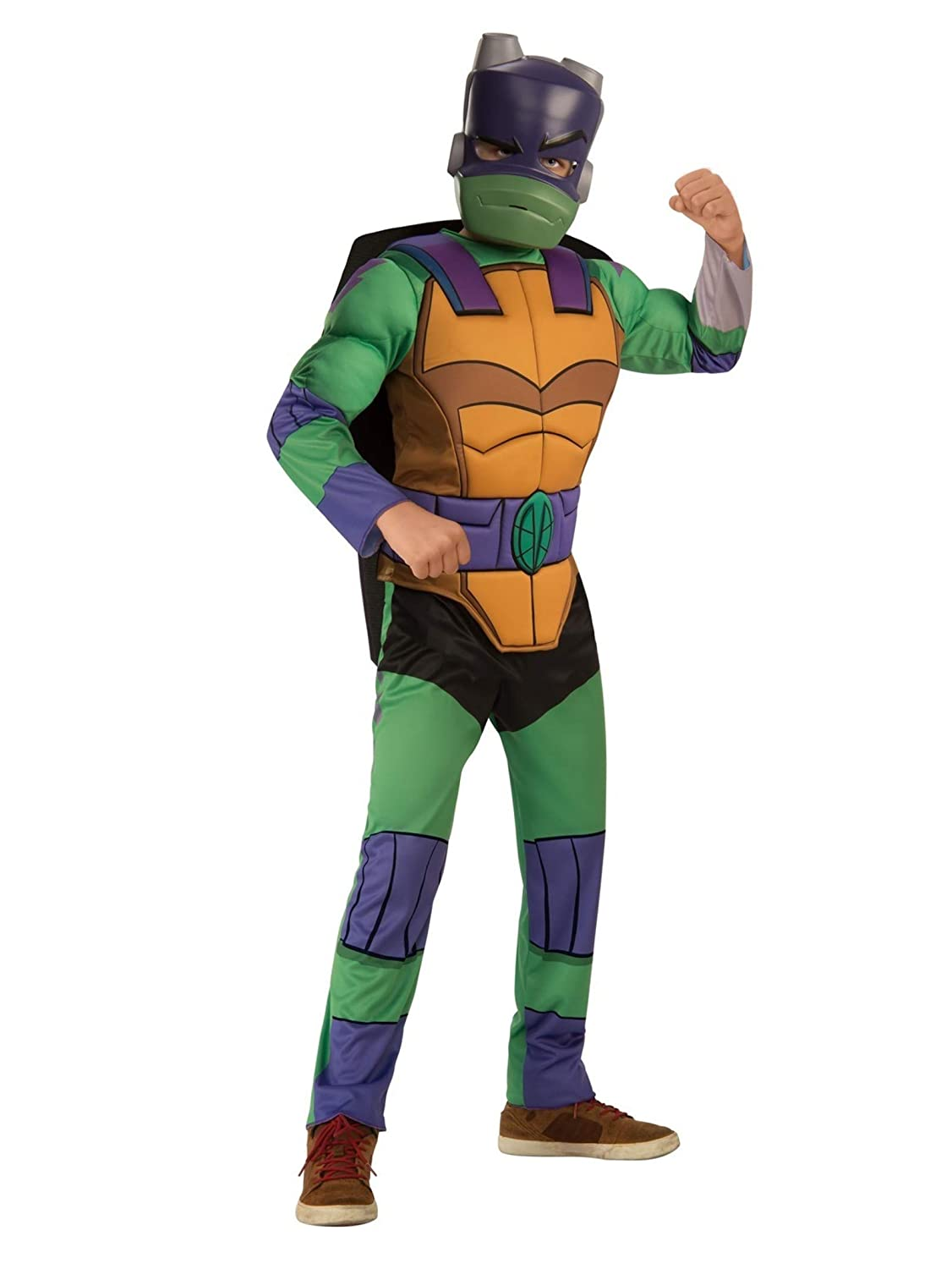 Buy Rubie S Boys Rise Of The Teenage Mutant Ninja Turtles Deluxe Costume Donatello Large Online At Low Prices In India Amazon In