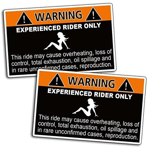 Funny Caution Joke Warning Experienced Rider Decal Sticker