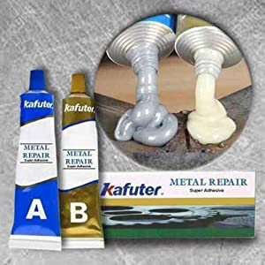 Caster Glue Ab Group Double Tube Industrial Heat Resistance Cold Weld Metal Repair Paste,Heat Resistance Glue for Metal Casting Defect (50g)