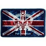 Pet Rebellion Union Jack Tapis de Repas pour Chien 40 x 60 cm