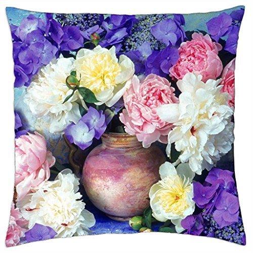 Peonías y hortensias - Funda de almohada manta (16: Amazon ...