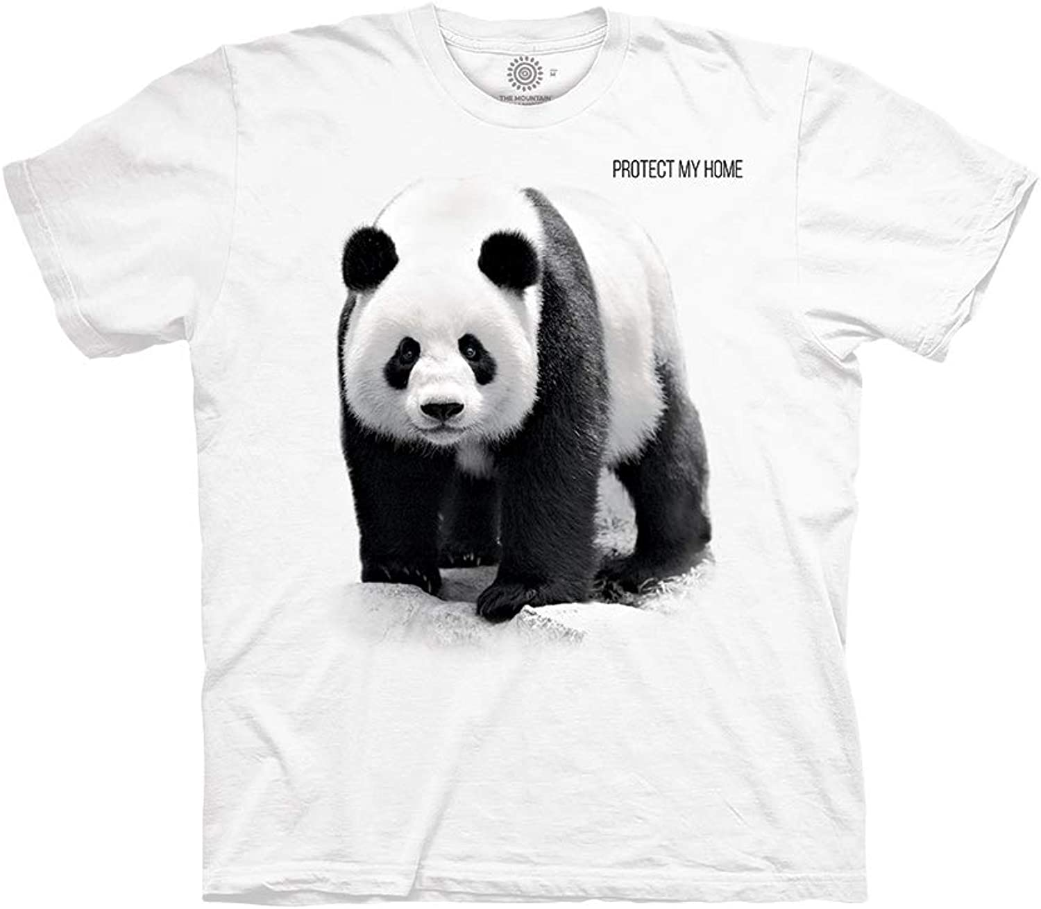 The Mountain Unisex Adult Panda Protect My Home White Animal T Shirt M