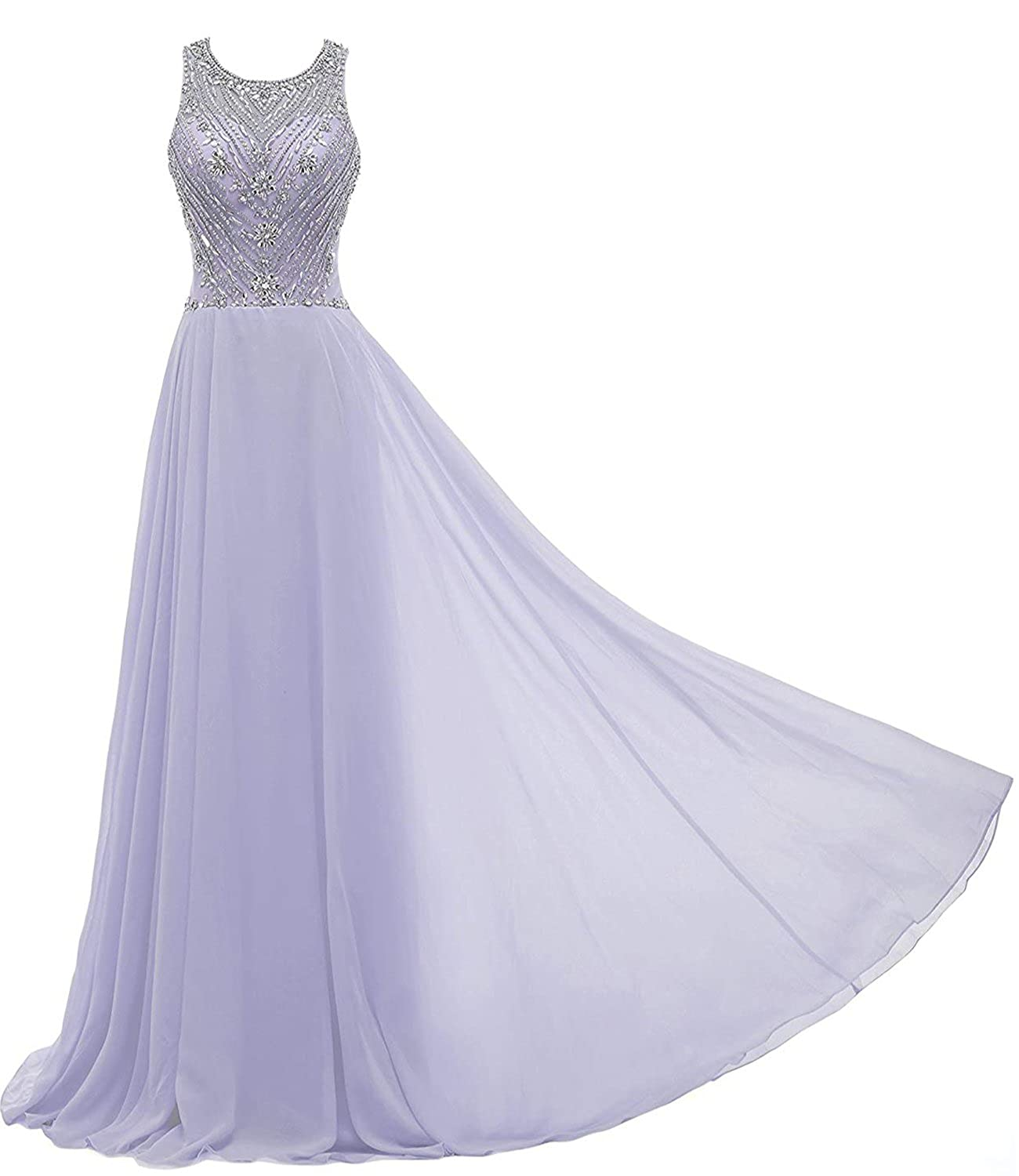 d894780d324 Solovedress Women s Cap Sleeves Chiffon Beaded Long Prom Dress Evening Gown  Bridesmaid  Amazon.co.uk  Clothing