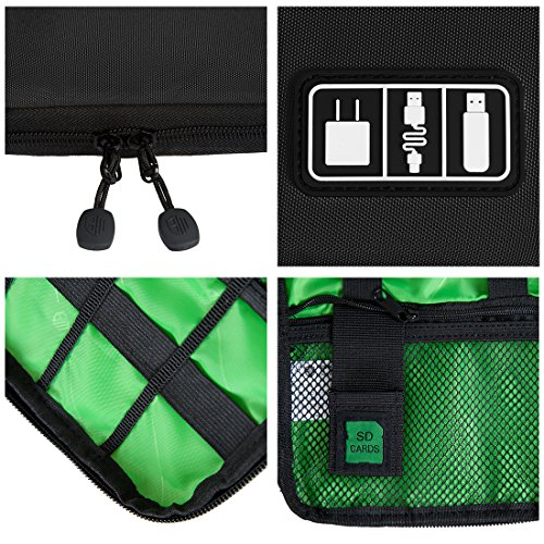 BAGSMART Travel Organizer for Electronics Accessories Hard Drives, Black