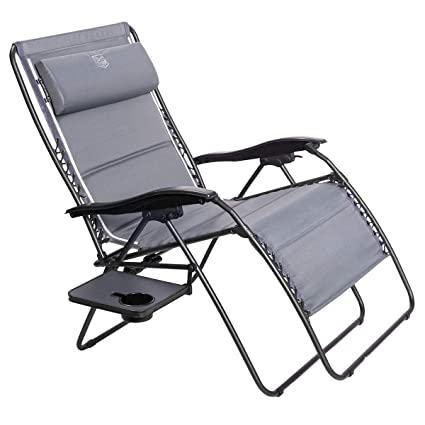 Timber Ridge Zero Gravity Patio Lounge Chair Oversize XXL Padded Adjustable  Recliner with Headrest Support 600lbs - Amazon.com : Timber Ridge Zero Gravity Patio Lounge Chair Oversize