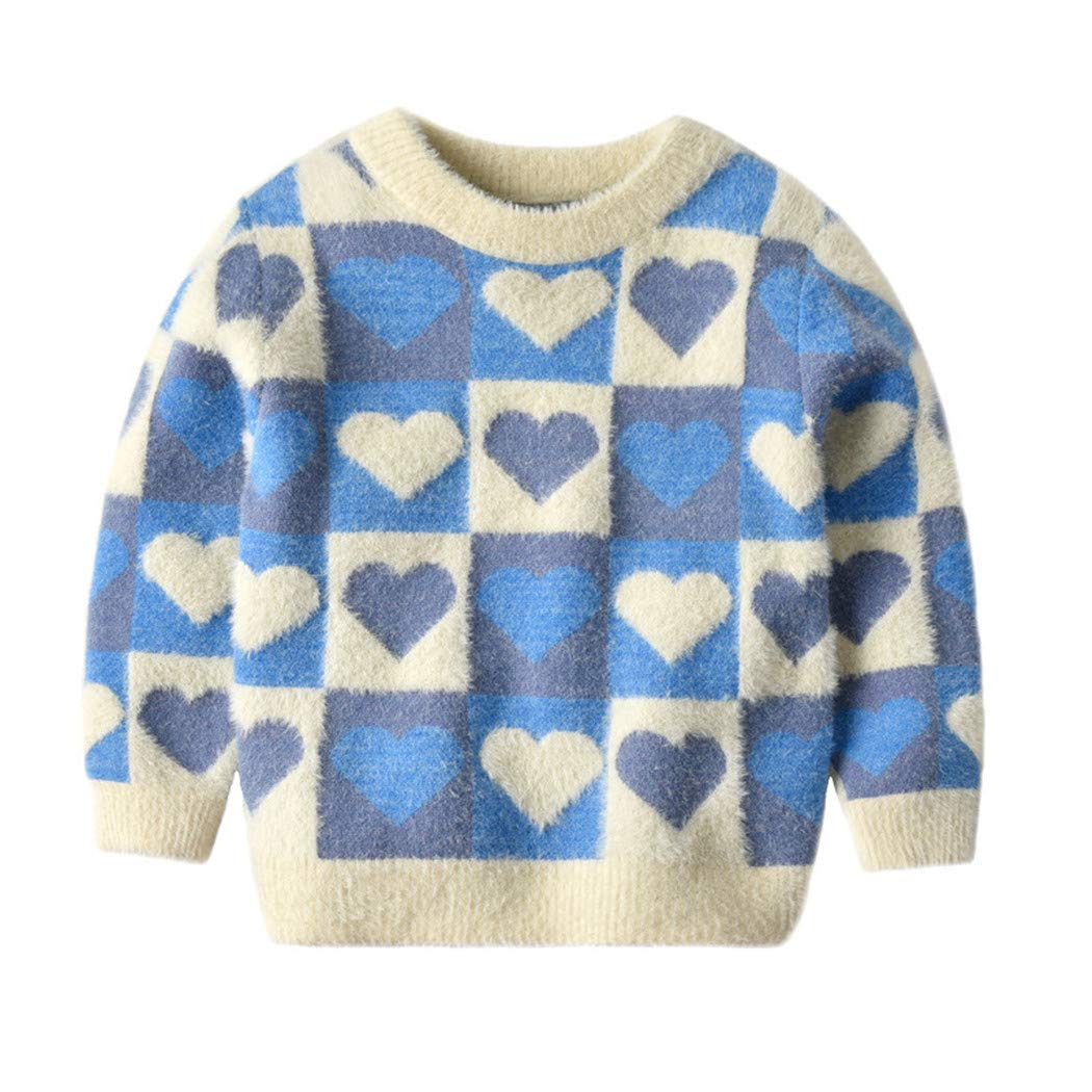 Sweaters Boy Sweater Autumn Winter Kids Girls Boys Pullover Tops Knit Clothes 5 by Santans
