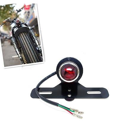 New Black Motorcycle Tail Brake Light Lamp For Harley Bobber Chopper Cafe Racer