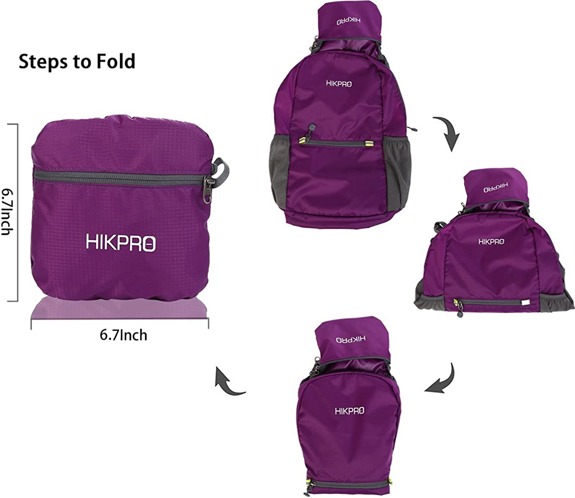 Water Resistant Travel Hiking Daypack for Men /& Women The Most Durable Lightweight Packable Backpack HIKPRO 20L