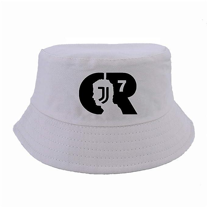 Kerr Kellogg CR7 Letter Fisherman hat Harajuku Men Women Juventus Cap  Ronaldo Caps Fans Bucket Hats 31b250fea23
