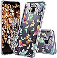 Galaxy S8 Case, Galaxy S8 Cover, MOSNOVO Fashion Butterfly Pattern Clear Design Transparent Plastic Hard Back Case with TPU Bumper Protective Case Cover for Samsung Galaxy S8