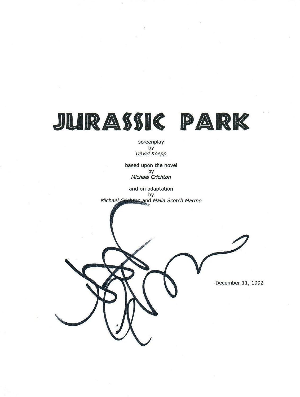 Jeff Goldblum Signed Autographed JURASSIC PARK Movie Script COA Unbranded