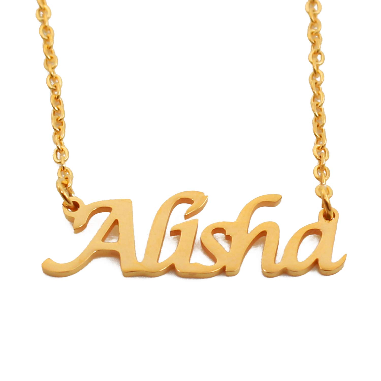 Kigu Alisha Custom Name Necklace Personalized 18ct Gold Plated