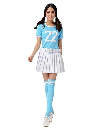 Losorn Women Girls Musical Uniform Glee Club Fancy Dress Cheerleader Outfit  sc 1 st  Amazon.com & Amazon.com: Losorn Women Girls Musical Uniform Glee Club Fancy Dress ...