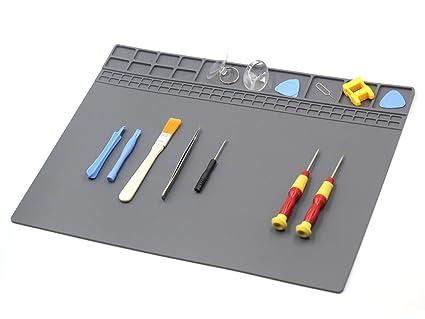 large soldering mat silicone pad electronics repair mat repair for rh amazon com