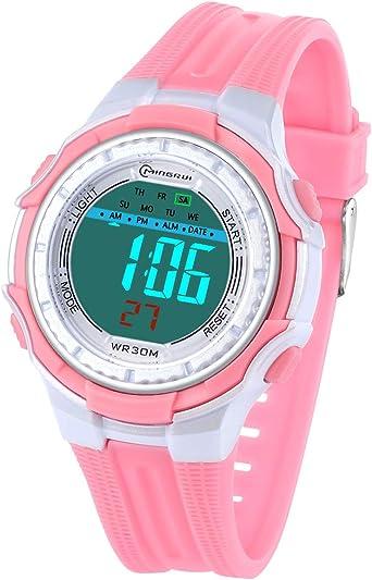 Reloj Digital para niños, Reloj de Pulsera eléctrico con Alarma, cronómetro, Deportivo, 30 m, Resistente al Agua, Relojes de Pulsera para niños y