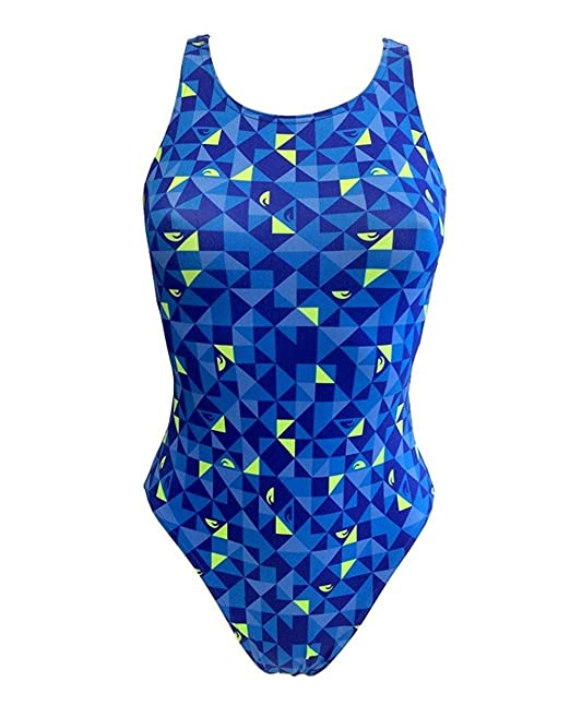 06b574016c74 Turbo - Bañador Mujer Origami Azul Profesional Señora, Traje de Baño ...