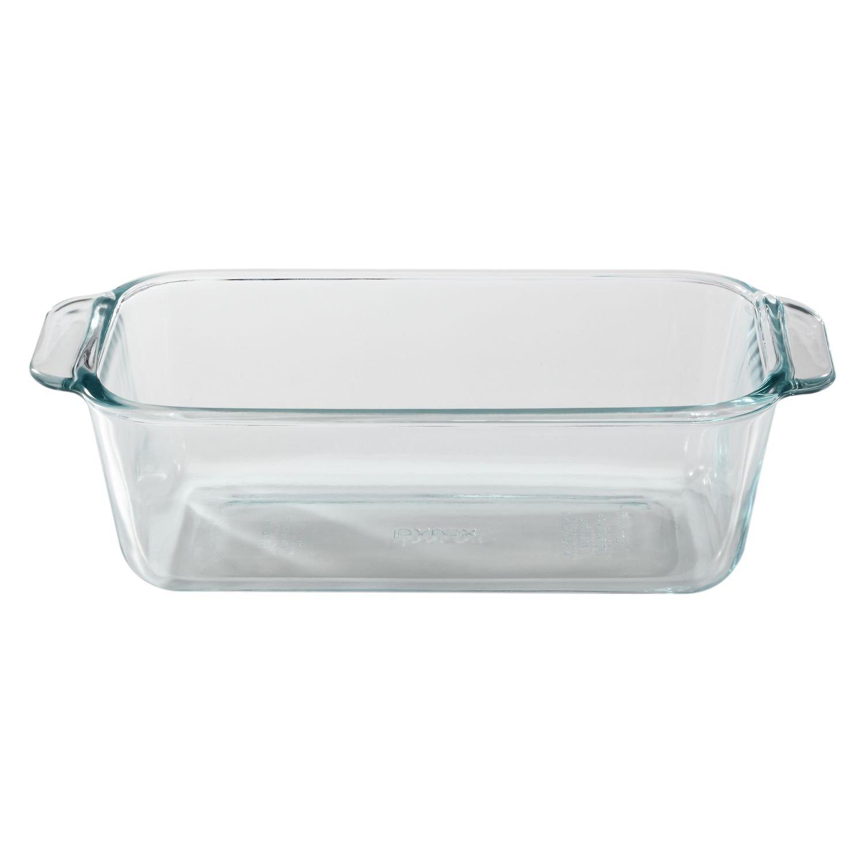 Pyrex 1.5-Quart Clear Basics Glass Loaf Pan (Set of 2)