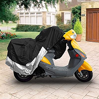 "Neh® Superior Travel Dust Motorcycle Scooter Moped Cover Covers : Fits Up To Length 80"" - All Scooter + Mopeds - Yamaha Honda Suzuki Kawasaki Ducati Bmw Aprilia Triumph Buell Motorcycle Covers - Xxl"