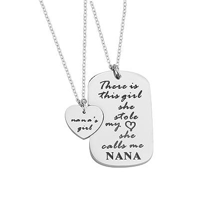 Amazon.com: feelmem abuela nieta regalos, Nana de de niña ...