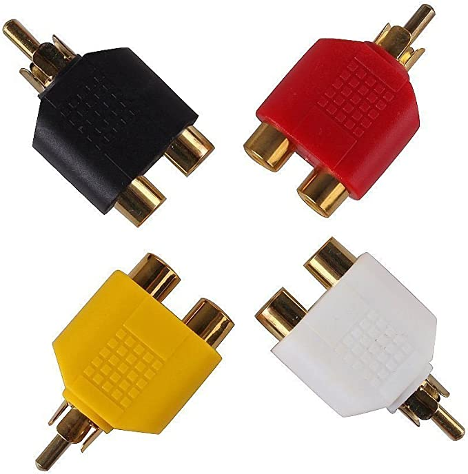 Adaptateur Y Splitter RCA 1 Male Vers 2 femelle Audio Cable Jack Stereo Voiture
