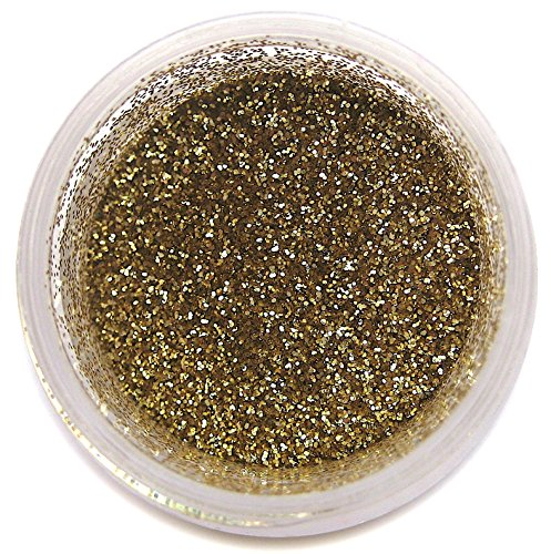 American Gold Disco Glitter Dust, 5 gram container