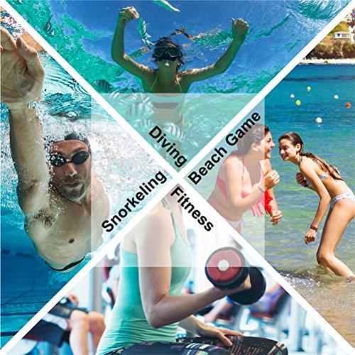 Barerun Barefoot Quick-Dry Water Sports Shoes Aqua Socks for Swim Beach Pool Surf Yoga for Women Men (M(W:6.5-7.5), Pure Black) by Barerun (Image #6)